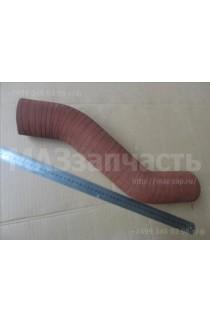 Патрубок радиатора (кривой, резиновый, красный, морозоустойчивыйL-457 мм)
