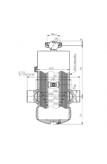 Гидроцилиндр подъема кузова прицепа (3-х сторонняя разгрузка)