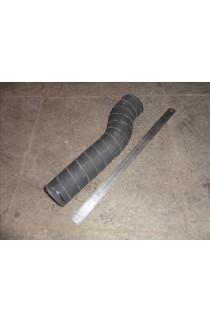 Патрубок радиатора (кривой, резиновый, L-420 мм)