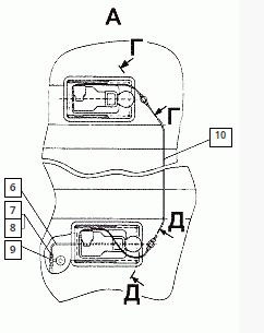 Установка сидений (Пневмоподвеска сидений МАЗ)